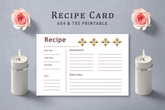 Print on Demand: Elemental Design Recipe Card Template Graphic Print Templates By Creative Tacos