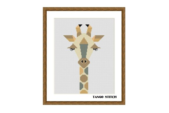 Geometric Giraffe Cross Stitch Pattern Graphic Cross Stitch Patterns By Tango Stitch