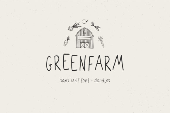 Print on Demand: Green Farm Script & Handwritten Font By LABFcreations