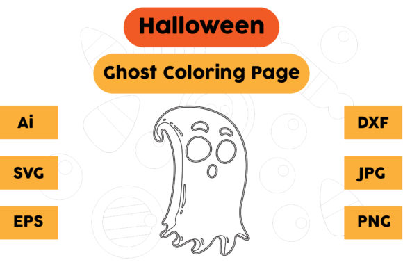 Halloween Coloring Page - Ghost 20 Graphic Coloring Pages & Books Kids By isalsemarang
