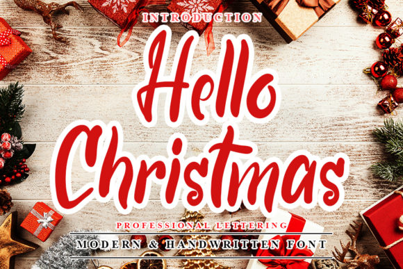 Print on Demand: Hello Christmas Script & Handwritten Font By NYA Letter