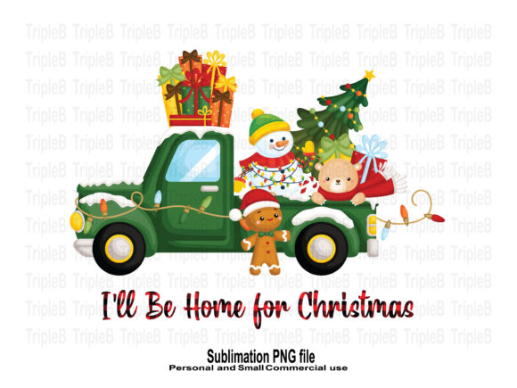 Print on Demand: I'll Be Home for Christmas Sublimation Graphic Crafts By TripleBcraft