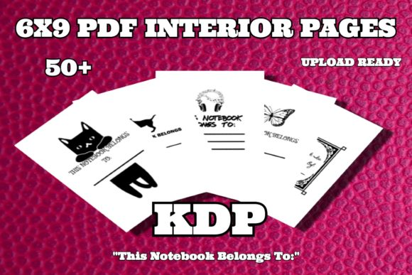 KDP 6x9 PDF Interior Belongs to Pages Graphic KDP Interiors By .99 Cent Digital Products