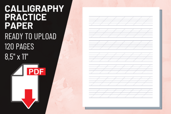 Print on Demand: KDP Interior Calligraphy Practice Paper Graphic KDP Interiors By atlasart