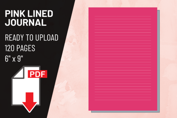 Print on Demand: KDP Interior Pink Lined Journal Graphic KDP Interiors By atlasart