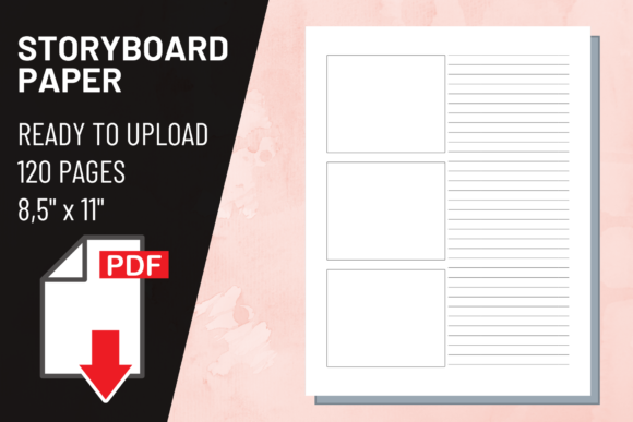 Print on Demand: KDP Interior Storyboard Paper Book Graphic KDP Interiors By atlasart