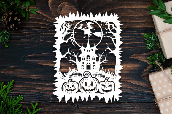 Kirigami Halloween 3b Paper Cut Graphic 3D Shadow Box By LightBoxGoodMan