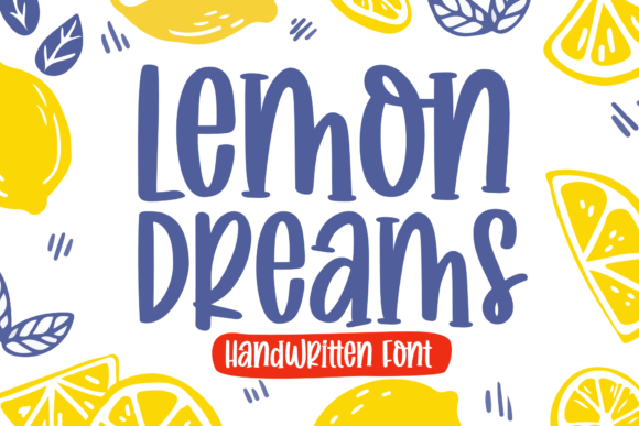 Print on Demand: Lemon Dreams Manuscrita Fuente Por Holydie Studio
