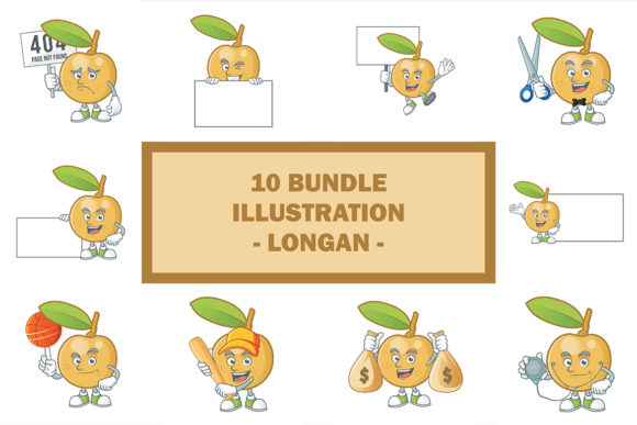 Longan Bundle Graphic Illustrations By KongVector2020