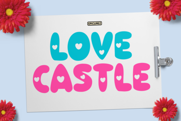 Print on Demand: Love Castle Display Font By Epiclinez