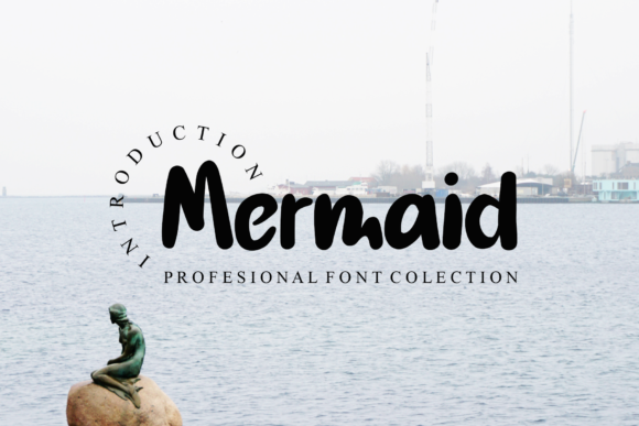 Print on Demand: Mermaid Display Font By dazzlinggleam