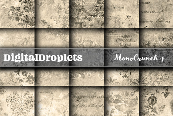Mono Crunch 4 Graphic Backgrounds By digitaldroplets