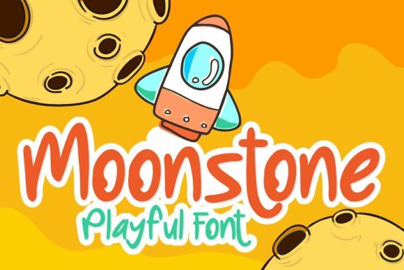 Print on Demand: Moonstone Display Font By RT Studio