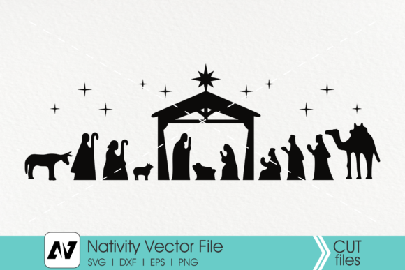 Nativity, Christmas, Jesus Birth Graphic Crafts By Pinoyartkreatib