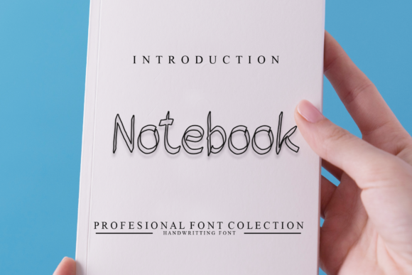 Print on Demand: Notebook Display Font By giatstudios