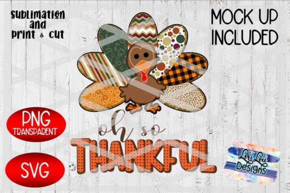 Oh so Thankful Turkey Pattern Graphic Crafts By Lori Lou Designs