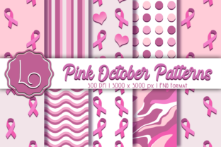 Print on Demand: Pink October Patterns Graphic Patterns By La Oliveira