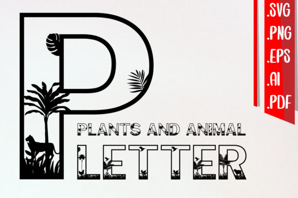 Plants and Animal Letter a-Z Svg Cut Eps Graphic Crafts By assalwaassalwa