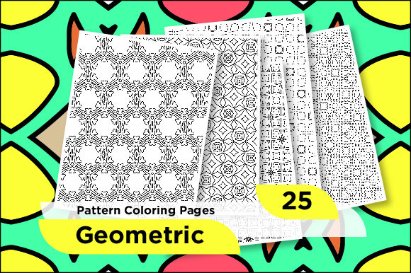 Premium Geometric Pattern Coloring Pages (Graphic) By Riduwan Molla ·  Creative Fabrica