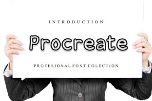 Print on Demand: Procreate Display Font By giartstudios