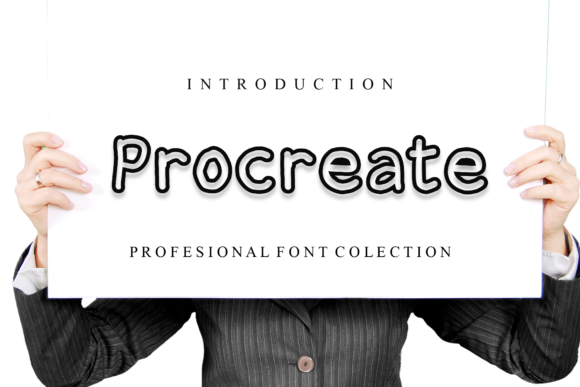 Print on Demand: Procreate Display Font By giatstudios