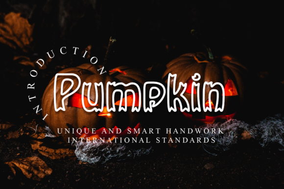 Print on Demand: Pumpkin Display Font By giatstudios