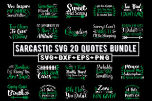 Print on Demand: Sarcastic Svg 20 Quotes Bundle Graphic Print Templates By Design_store