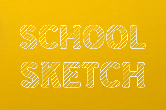 Print on Demand: School Sketch Display Font By Vladimir Carrer
