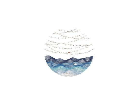 Sea Lights Beach & Nautical Embroidery Design By carasembor