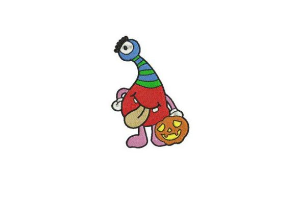 Small Head Trick or Treat Halloween Embroidery Design By BabyNucci Embroidery Designs