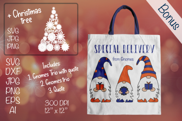 Special Delivery. Christmas Gnomes Graphic Illustrations By Createya Design