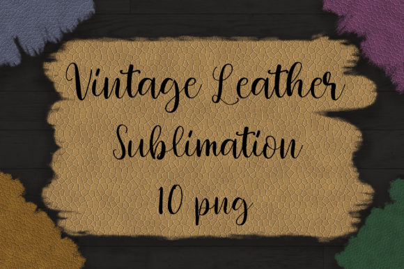Sublimation Vintage Leather Background Graphic Backgrounds By PinkPearly