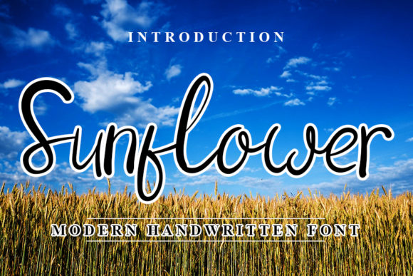 Print on Demand: Sunflower Script & Handwritten Font By NYA Letter