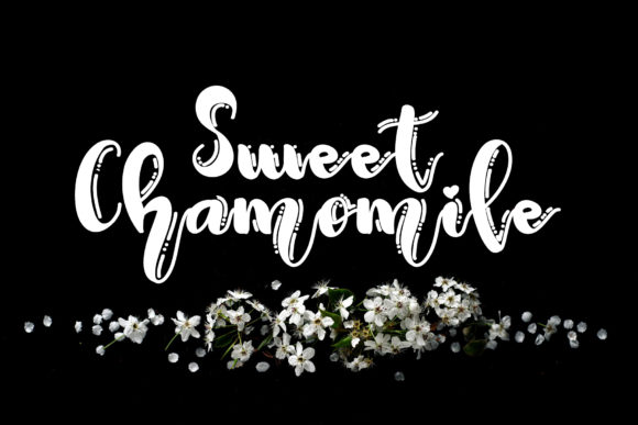 Print on Demand: Sweet Chamomile Display Font By Ansart