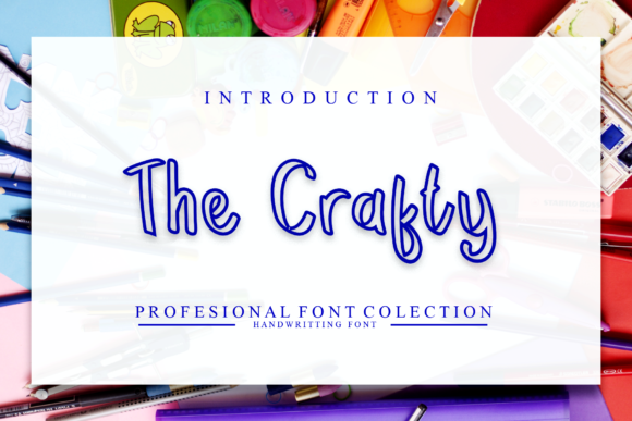Print on Demand: The Crafty Display Font By giatstudios