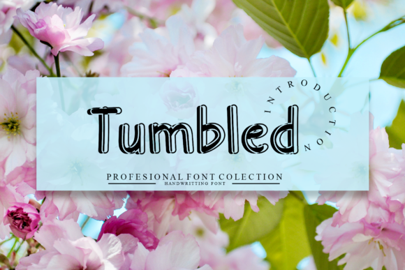 Print on Demand: Tumbled Display Font By giatstudios