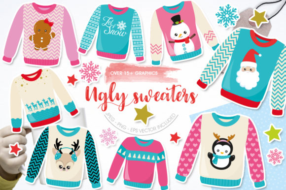 Print on Demand: Ugly Sweater Graphic Graphic Templates By Prettygrafik