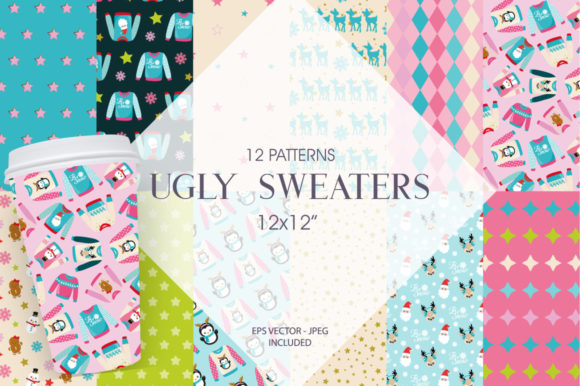 Print on Demand: Ugly Sweater Paper Graphic Patterns By Prettygrafik