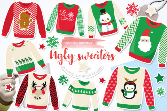 Print on Demand: Ugly Sweaters Graphic Graphic Templates By Prettygrafik