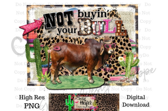 Print on Demand: Western Bullshit Ranch Dye Sublimation Graphic Illustrations By Crazy Heifer Design Shoppe
