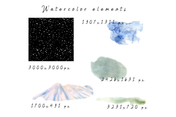 Winter Landscape Clipart Watercolor Graphic Design
