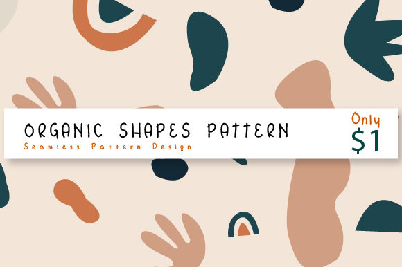 Print on Demand: Organic Shape Patterns Graphic Patterns By Rizky Creative