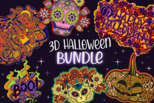 Print on Demand: 3D Halloween Bundle - 8 Layered SVG Item Graphic 3D SVG By tatiana.cociorva