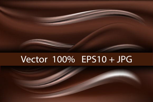 Chocolate Wave Creamy Silk Background. Graphic Backgrounds By AmarylleArt