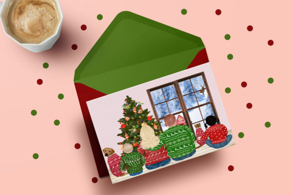 Christmas Family Clipart Plus Size Graphic Preview