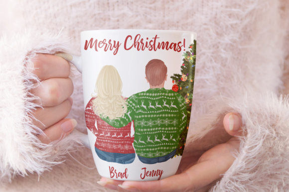 Christmas Family Clipart Plus Size Graphic Image