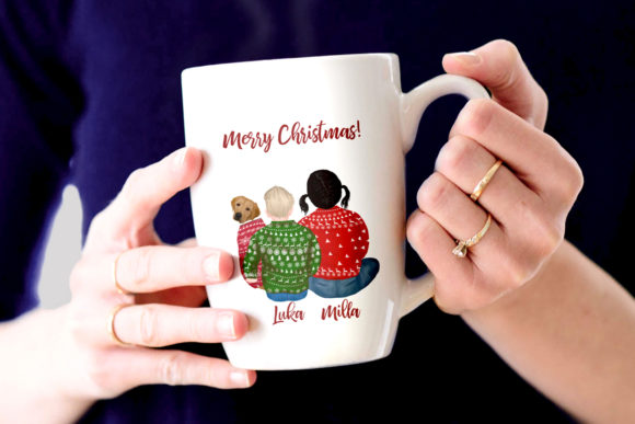 Christmas Family Clipart Plus Size Graphic Downloadable Digital File