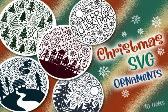 Print on Demand: Christmas SVG Ornaments - 10 Items Graphic Crafts By tatiana.cociorva