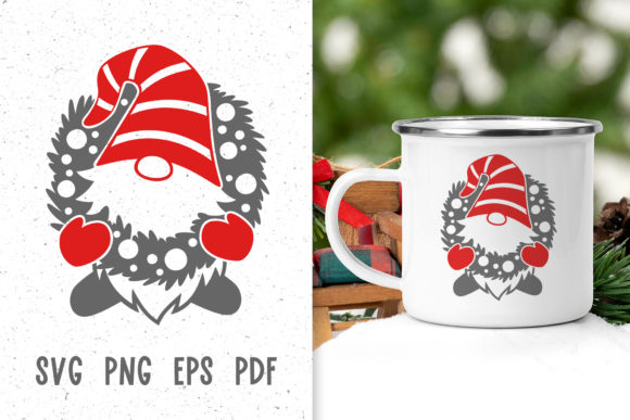 Christmas Gnome Decor Svg File Graphic Crafts By GreenWolf Art