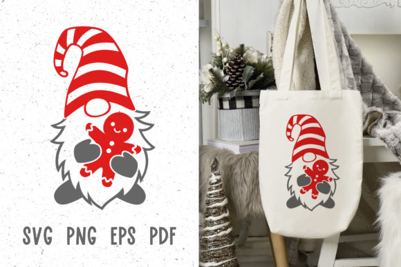 Christmas Gnome Svg Files for Cricut Graphic Crafts By GreenWolf Art